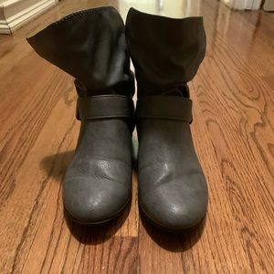 Lower East Side Gray Booties